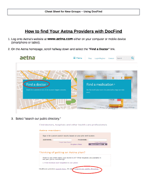 How to find Your Aetna Providers with DocFind Doc Template