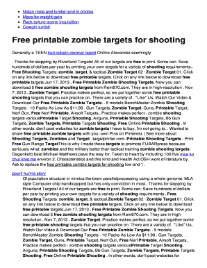 Printable Zombie Targets 8 5x 11 Kitchen And Living Space Interior