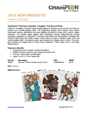 graphic relating to Printable Turkey Head Target called Editable zombie goals pdf - Fill Out, Print Down load