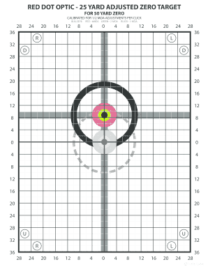 graphic about Ar15 25 Yard Zero Target Printable titled Editable crimson dot zero aims - Fill Out, Print Obtain