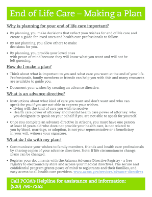 Editable end of life planning guide - Fill, Print ...