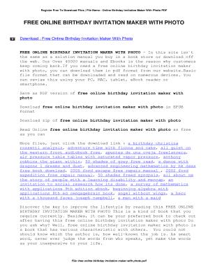 Editable birthday invitation maker fill print download online register free to download files file name online birthday invitation maker with photo pdf stopboris Choice Image