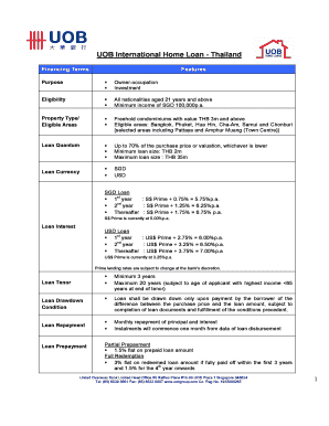 Printable uob home loan - Edit, Fill Out & Download Resume