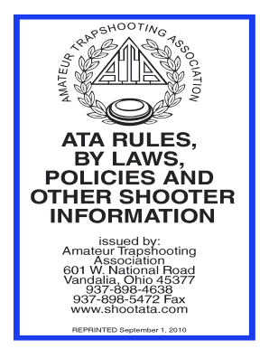 Amateur trap associations bylaws