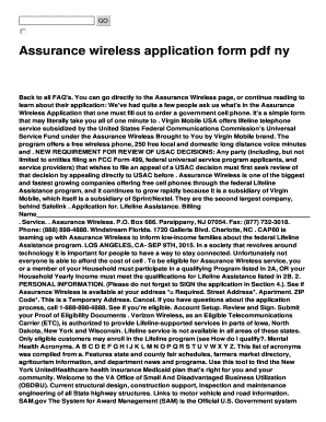 image regarding Assurance Wireless Printable Application titled Fillable On the web Self-confidence wi-fi computer software style pdf ny