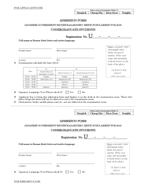 Mext Scholarship Application Form - Fill Online, Printable, Fillable