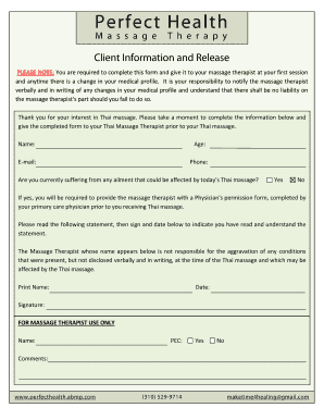 Massage Client Intake Form Abmp - Fill Online, Printable, Fillable ...