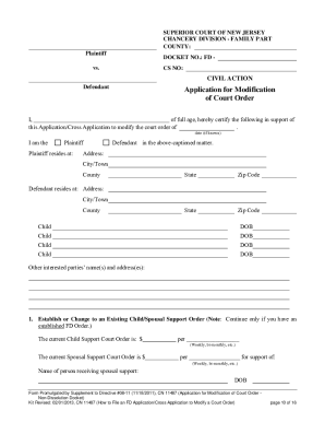 8 Printable child custody petition sample Forms and Templates