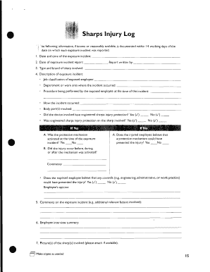 Fillable online dnr louisiana louisiana uic program dnr for Sharps injury log template
