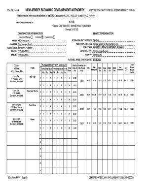 payroll report sample
