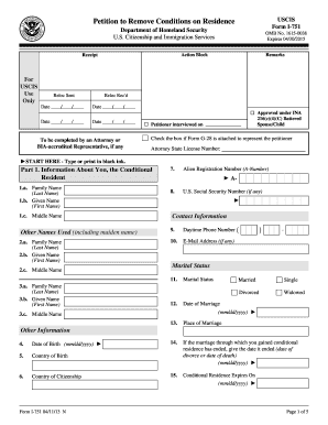 2013 Form USCIS I-751 Fill Online, Printable, Fillable, Blank ...
