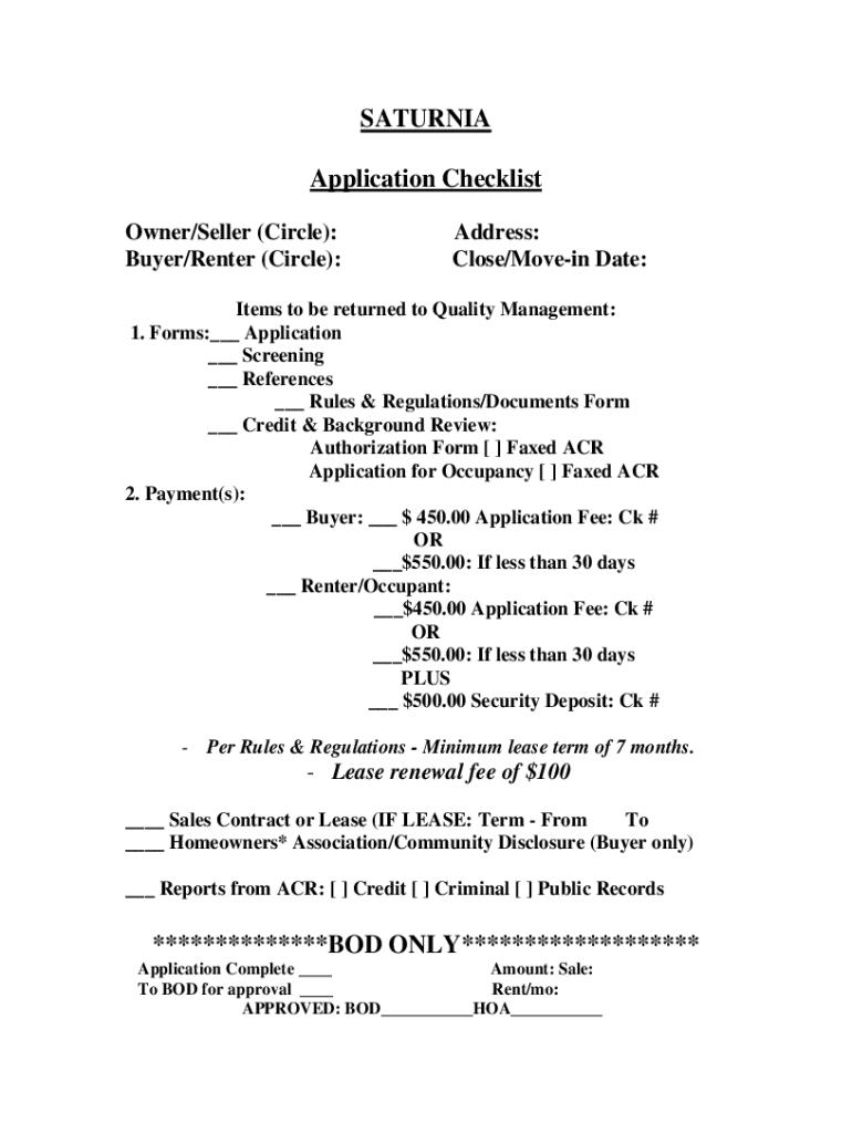 Application Hoa - Fill Online, Printable, Fillable, Blank | PDFfiller