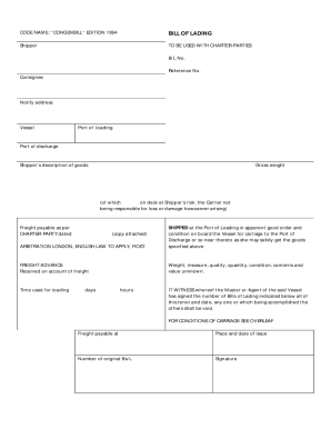 bill of lading terms and conditions template - bill of materials excel forms and templates fillable
