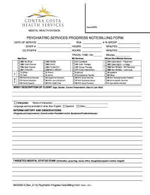 Psychiatric Progress Note Template. psych practice template ...
