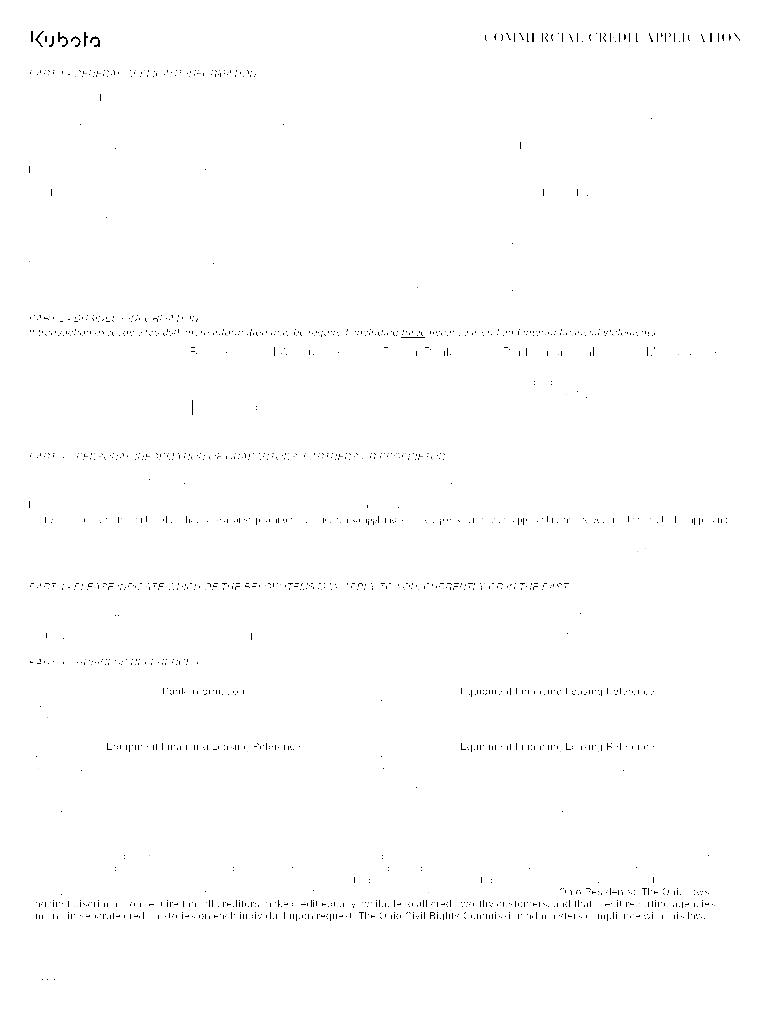 Fillable Online COMMERCIAL CREDIT APPLICATION - Kubota ...