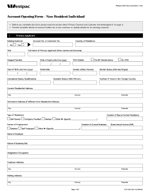 Westpac Png Application Forms