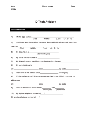 ID Theft Affidavit - Santander Bank US