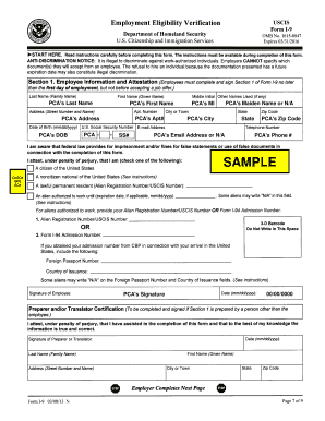 Fillable Online masscp Sample form i-9 Fax Email Print - PDFfiller