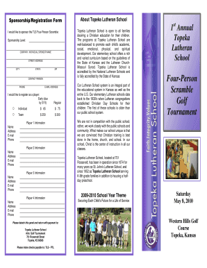 TRIFOLD BROCHURE TEMPLATE - Topeka Lutheran School