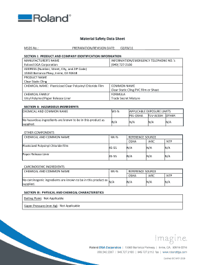 Fillable Online ESM-CSC Material Safety Data Sheet - Support