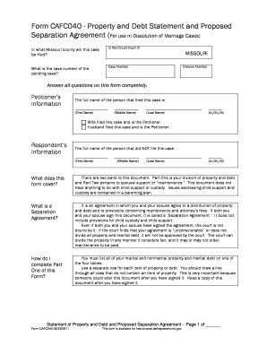 17 Printable Marriage Separation Agreement Forms And