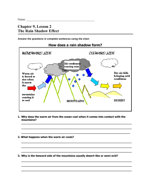 Chapter 9 Lesson 2 The Rain Shadow Effect - Fill Online, Printable ...
