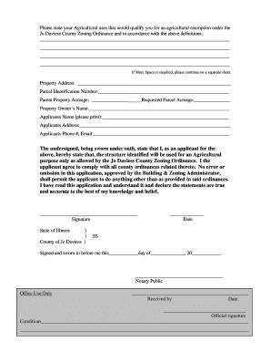 Fillable Online Agricultural Exemption Statement amp Affidavit Fax ...