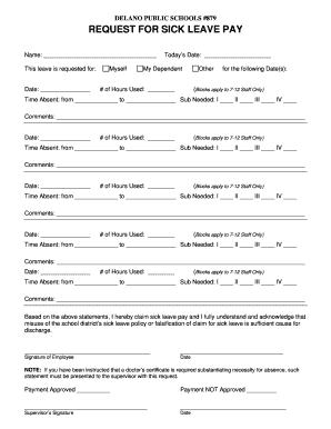 19 Printable application for leave in school for going out of