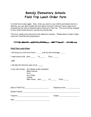 elementary field trip permission slip template