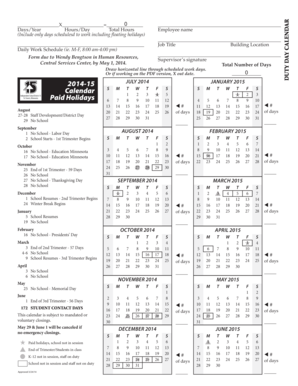 2014-15 July 2014 Calendar Independent School District 15 - stfrancis k12 mn