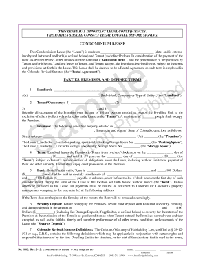 Pre1002. Colorado Real Estate Commission-approved form