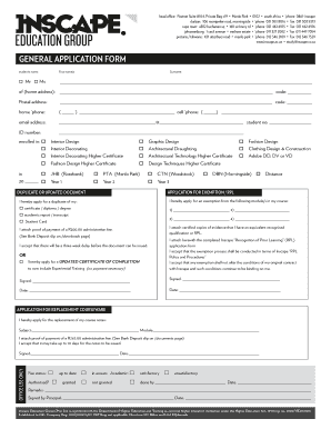 inscape education group online application form