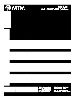 mtm trip log Trip Mtm - Fill Online, Printable, Fillable, Blank | PDFfiller