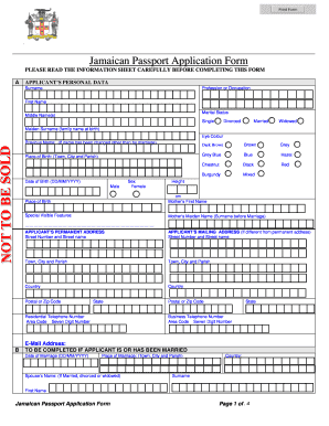 How To Fill Out Jamaican Passport Form - Fill Online, Printable ...