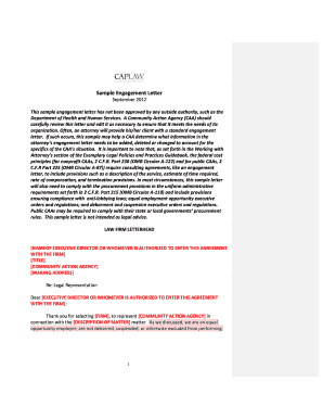 Engagement letter for accounting consulting services sample