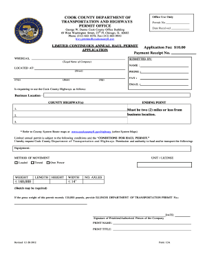 Application Fee: $10.00 Payment Receipt No. - Cook County