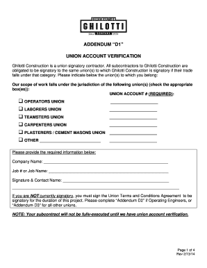 Fillable Online Union Letter Addendum D - Ghilotti