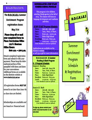 summer camp pamphlet design fillable printable online forms