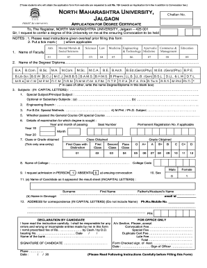 43702635 Online Application Form For Degree Certificate Nmu on