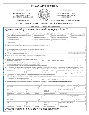 Tax Id Number Texas - Fill Online, Printable, Fillable, Blank ...