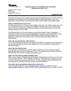 Virginia Auto Sales Tax >> Virginia Dmv Sales Tax Fill Online Printable Fillable