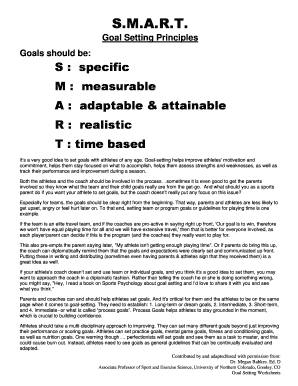 Business goal setting template forms fillable printable samples united states olympic committee goal setting worksheet form wajeb Choice Image