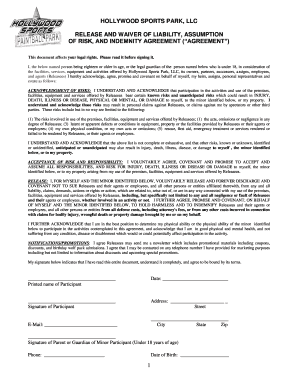 sports registration cards templates with insurance liability form