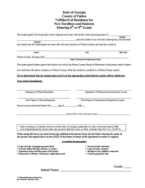 Ga Affidavit Residency - Fill Online, Printable, Fillable, Blank ...