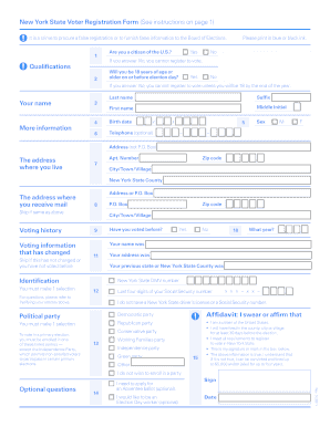 New York State Voter Registration Form - St. Lawrence County ...