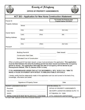 allegheny county act 202 form