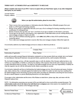 Ocwen Third Party Authorization Form - Fill Online, Printable ...