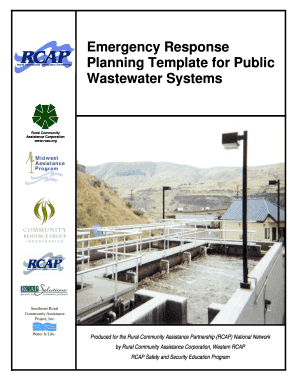Fillable Online Rcapsolutions Emergency Response Planning Template For Public Wastewater S Fax Email Print Pdffiller