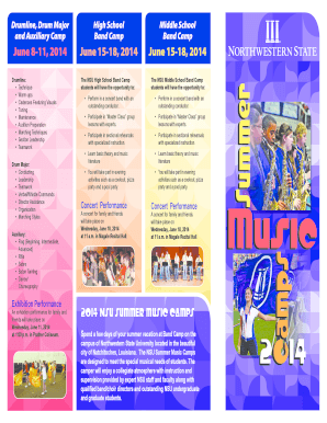 2014 Summer Camp Registration Brochure - Northwestern State ... - demonband nsula