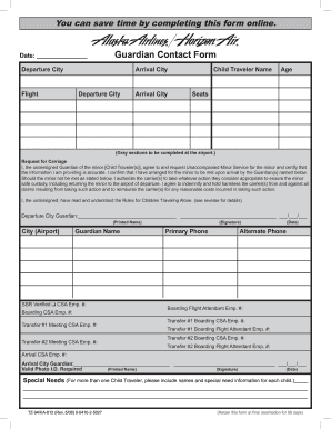 Alaska Airlines Guardian - Fill Online, Printable, Fillable, Blank ...